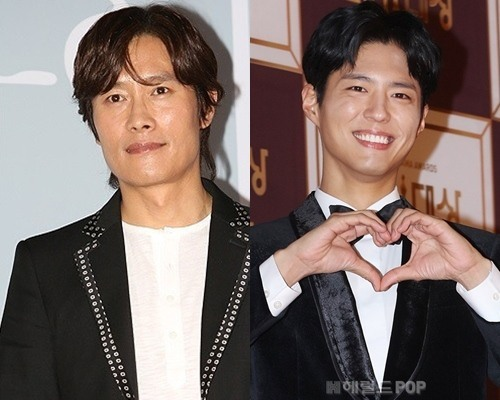 Lee Byung-hun (left) and Park Bo-gum (right) (The Korea Herald)