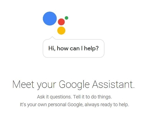This photo captured from the website of Google Assistant shows the AI-assisted voice butler service. (Yonhap)