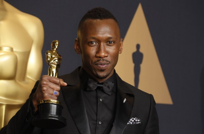 Mahershala Ali, winner of the award for Actor in a Supporting Role for 'Moonlight' (EPA-Yonhap)