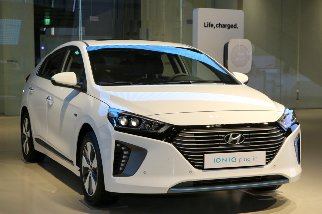 Exterior view of the new Hyundai Ioniq plug-in. (Hyundai Motor)