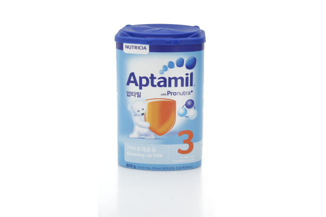 Aptamil with Pronutra+ Stage 3, which hit E-mart shelves Wednesday. (E-mart)