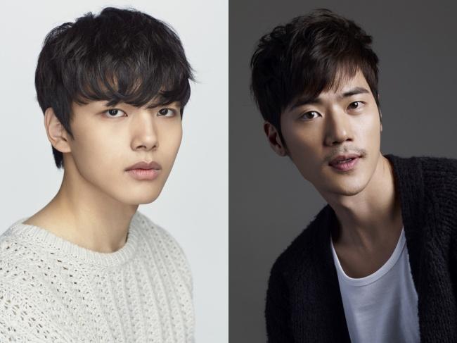 "Yeo Jin-goo (left) and Kim Kang-woo star in tvN's new sci-fi drama ""Circle."" (SBS/ Namoo Actors)"