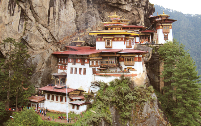 The Buddhist Temple of Taksang Gompa in Bhutan (Goh Geun-young)