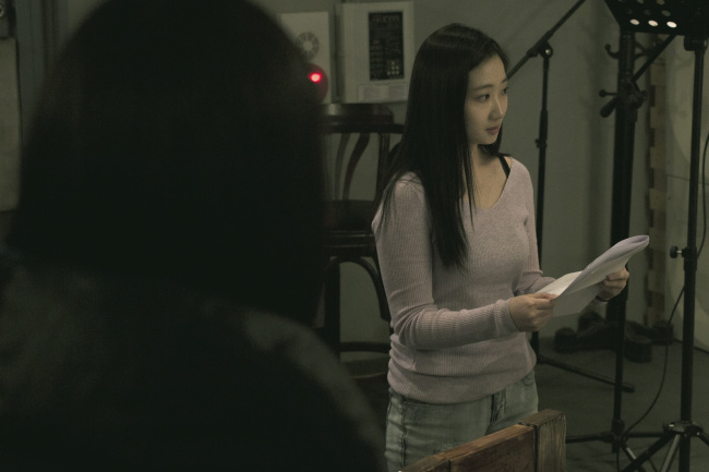 "Chae Song-a attends a rehearsal for the V-Day Seoul Project's ""Vagina Monologues."" (Erina Sung)"