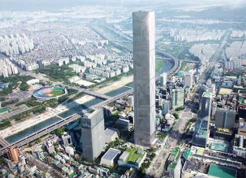 An artist's impression of how the area around KEPCO will look after it is developed into a hub for international meetings and conventions. (Yonhap)
