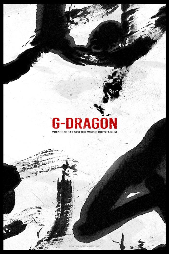 The poster for G-Dragon's Motae concert (YG Entertainment)
