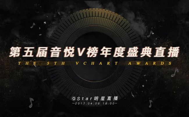 The logo for the 2017 Yin Yue Tai V-Chart Awards (Screenshot from official website's main page)