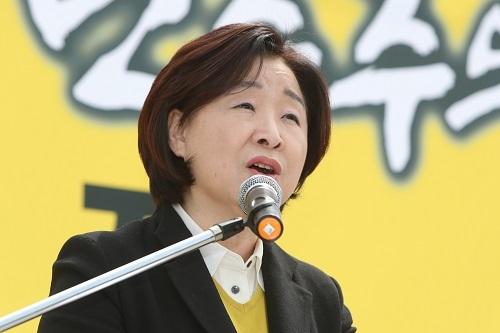 Rep. Sim Sang-jeung of the minor progressive Justice Party (Yonhap)