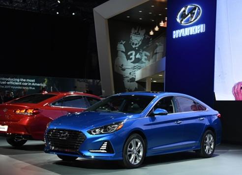 Hyundai's Sonata facelift at New York Auto Show (Hyundai Motor)
