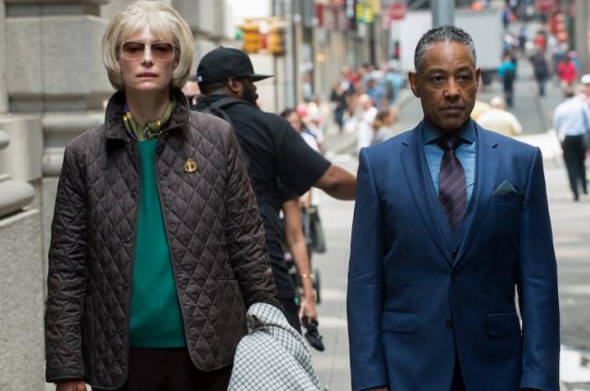 "Tilda Swinton (left) and Giancarlo Esposito star in ""Okja."" (Netflix)"