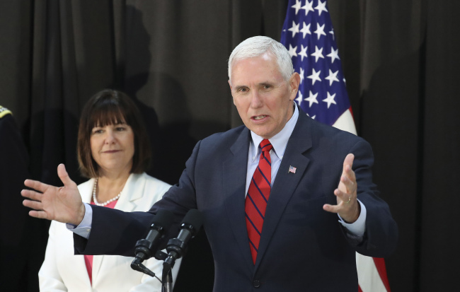 Pence Warns North Korea Not To Test Trump