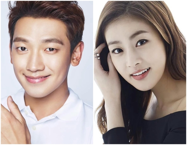 Singer-actor Rain (left) and actress Kang So-ra (Rain Company/Plum Entertainment)