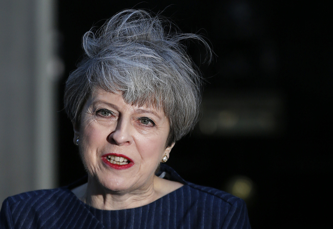 Britain's Prime Minister Theresa May (AP)