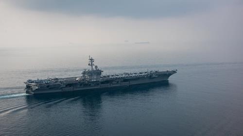 The USS Carl Vinson aircraft carrier (Yonhap)