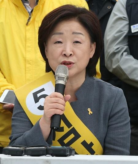 Justice Party's flag-bearer Sim Sang-jeung (Yonhap)