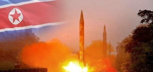 An image of North Korea's missile launch (Yonhap)