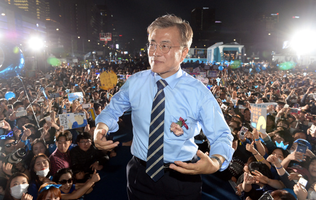 Moon Jae-in of the Democratic Party (Yonhap)