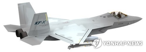 A model picture of a KF-X fighter jet in a file photo (Yonhap)