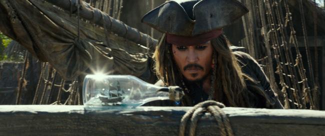 "Johnny Depp as Captain Jack Sparrow in the film, ""Pirates of the Caribbean: Dead Men Tell No Tales."" (Disney Enterprises, Inc.)"