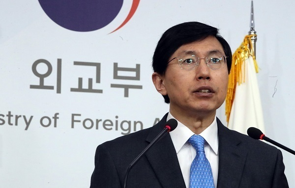South Korean foreign ministry spokesman Cho June-hyuck (Yonhap)