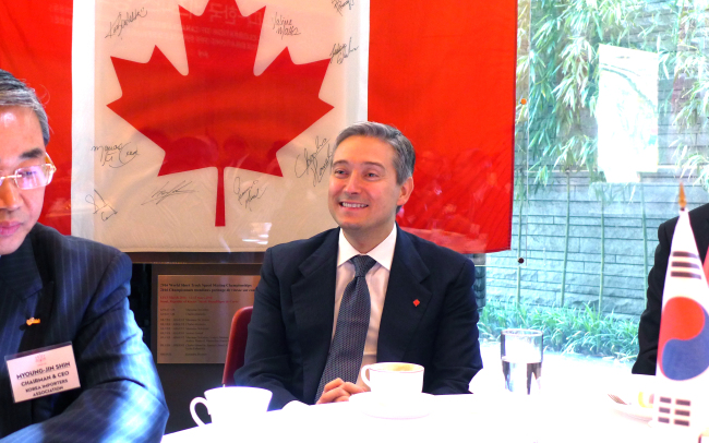 Canadian Minister of International Trade Francois-Philippe Champagne (Joel Lee/The Korea Herald)