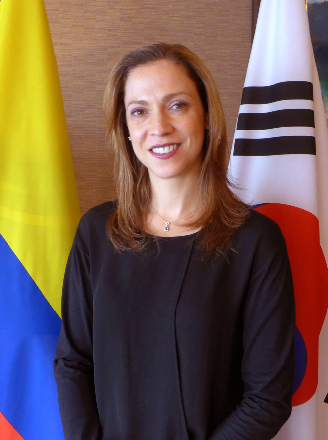 Maria Claudia Lacouture, Colombian minister of trade, industry and tourism, (Joel Lee/The Korea Herald)