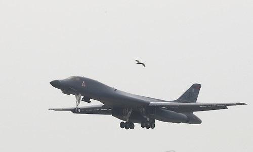 A B-1B Lancer strategic bomber (Yonhap)