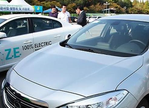 Renault Samsung's compact SM3 Z.E. electric car (Yonhap)