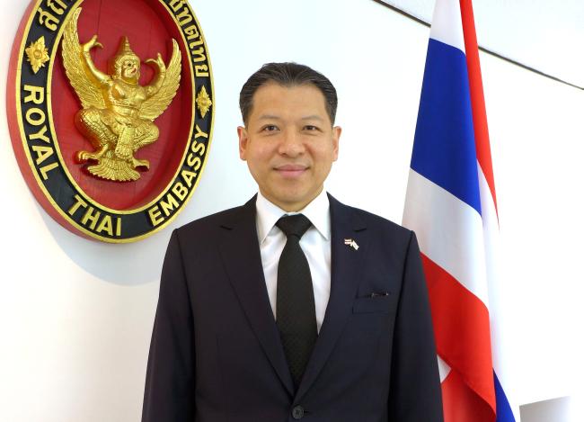 Thai Ambassador to Korea Sarun Charoensuwan (Joel Lee/The Korea Herald)