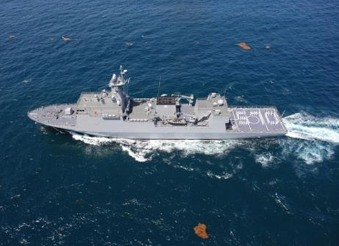 South Korean Navy's new minelayer Nampo in a photo provided by the Defense Acquisition Program Administration (DAPA)
