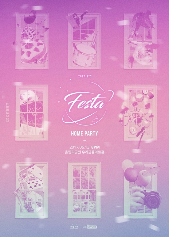 "Poster image for ""2017 BTS Home Party"" (Big Hit Entertainment)"