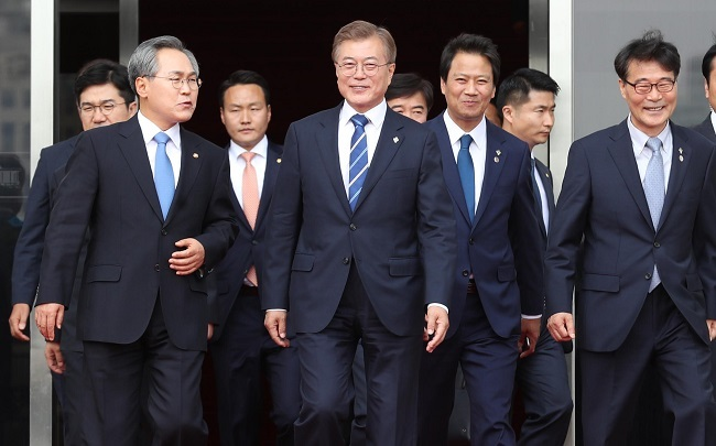 South Korea's Moon names point man on North