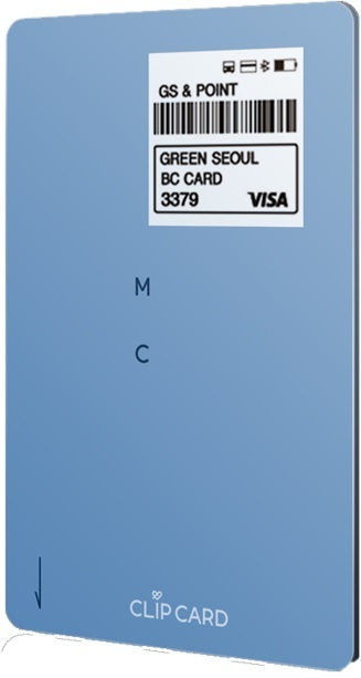 Front side of CLiP CARD device (KT)