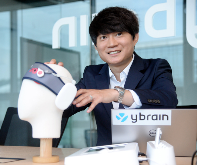 Ybrain CEO Lee Ki-won (Park Hyun-koo/The Korea Herald)