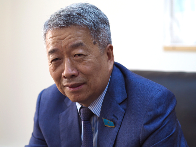 Roman Kim, deputy of the Mazhilis Lower House of the Kazakhstani Parliament and president of the Korean Association of Kazakhstan (Joel Lee/The Korea Herald)