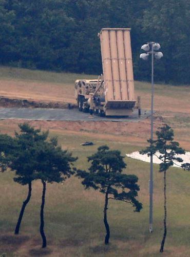 A THAAD launcher (Yonhap)