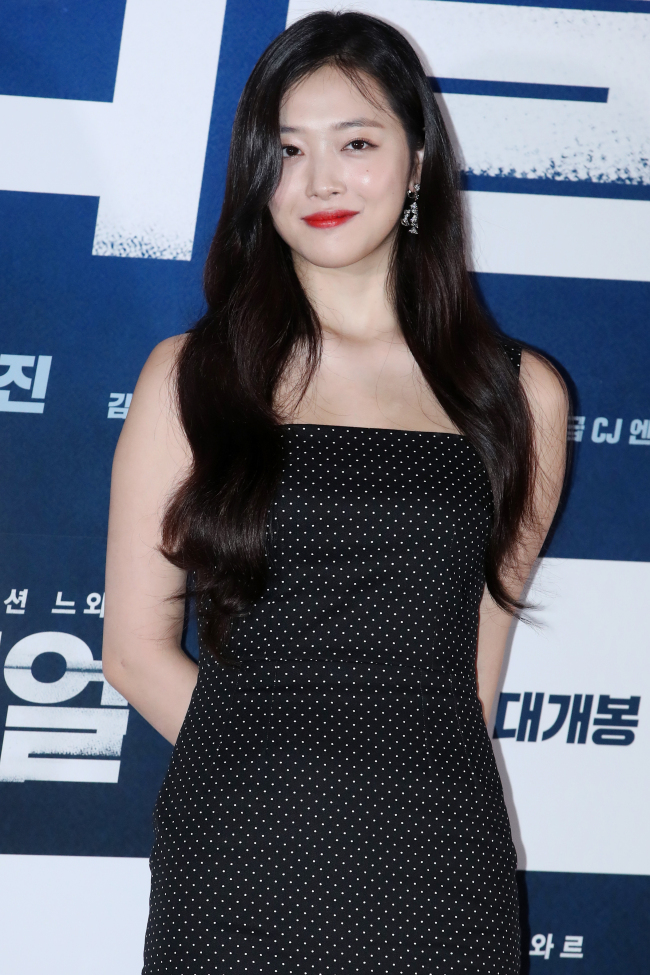 Sulli attends the press screening of