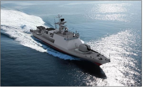 An image of a Gumdoksuri-class high-speed patrol boat (Defense Acquisition Program Administration)