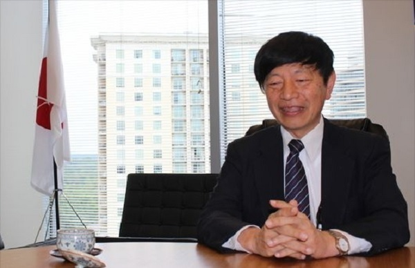 The Japanese consul general in Atlanta, Takashi Shinozuka. (Captured from the website of the Reporter Newspapers)