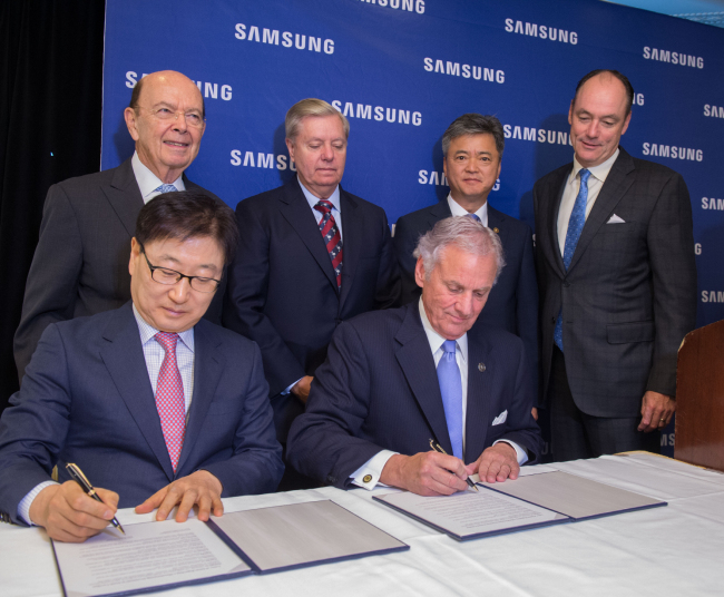 Samsung to Invest $380 Million in South Carolina Factory for Home Appliances