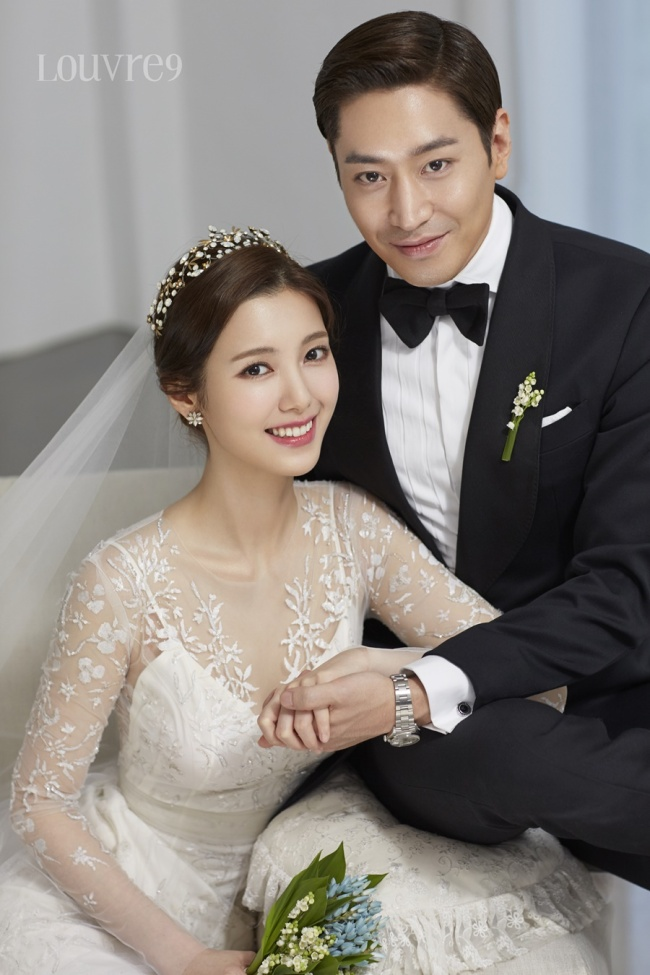 Wedding photo of Eric and Na Hye-mi (E&J Entertainment)