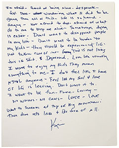 """A letter written by Kim, one of the terminal patients interviewed for the exhibition """"Right, Before I Die."""" (MD Insight)"""