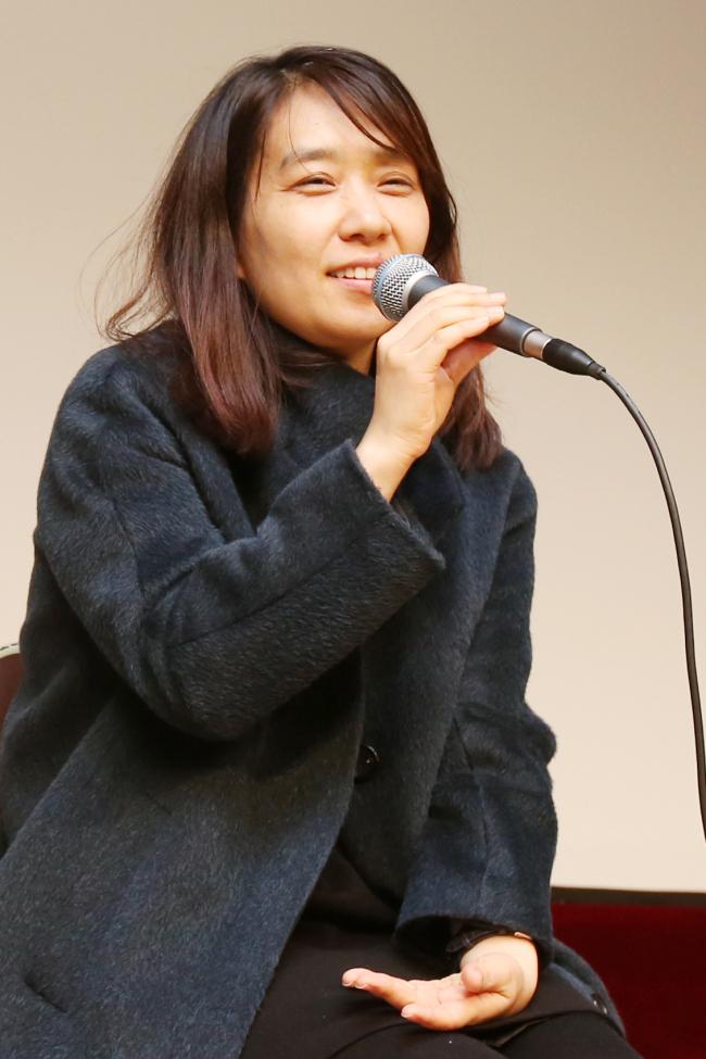 Korean author Han Kang, who wrote the three-part novella