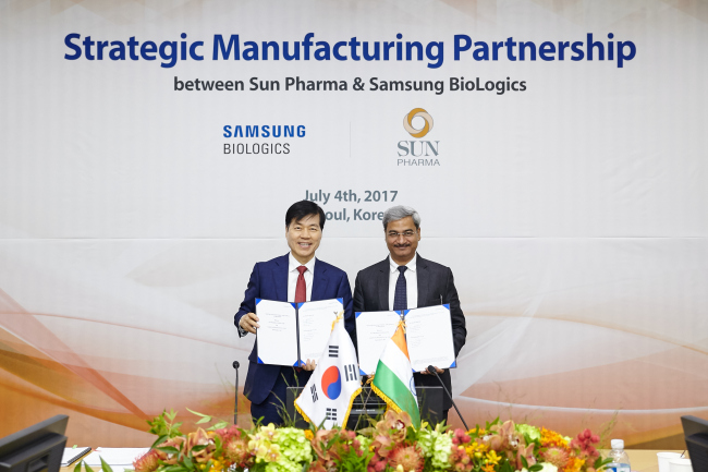 Sun Pharma & Samsung BioLogics announce strategic manufacturing tie-up for Tildrakizumab