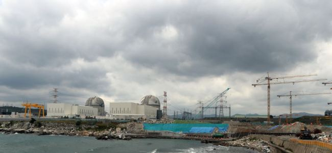 This photo, taken on July 2, 2017, shows the site where construction of the Shin-Kori 5 and 6 reactors has been under way in Ulsan, 414 kilometers southeast of Seoul. (Yonhap)