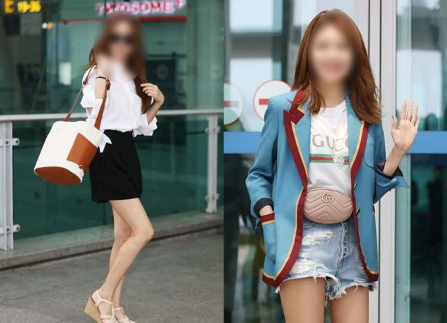 Airport fashion photos like these are popular entertainment news items, but a recent media report has claimed the outfit selections may not be as casual as they appear. This photo is not related to the article. (Herald DB)