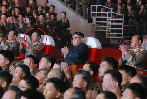 Jang Chang-ha president of the Academy of National Defense Science seen sitting next to leader Kim Jong-un