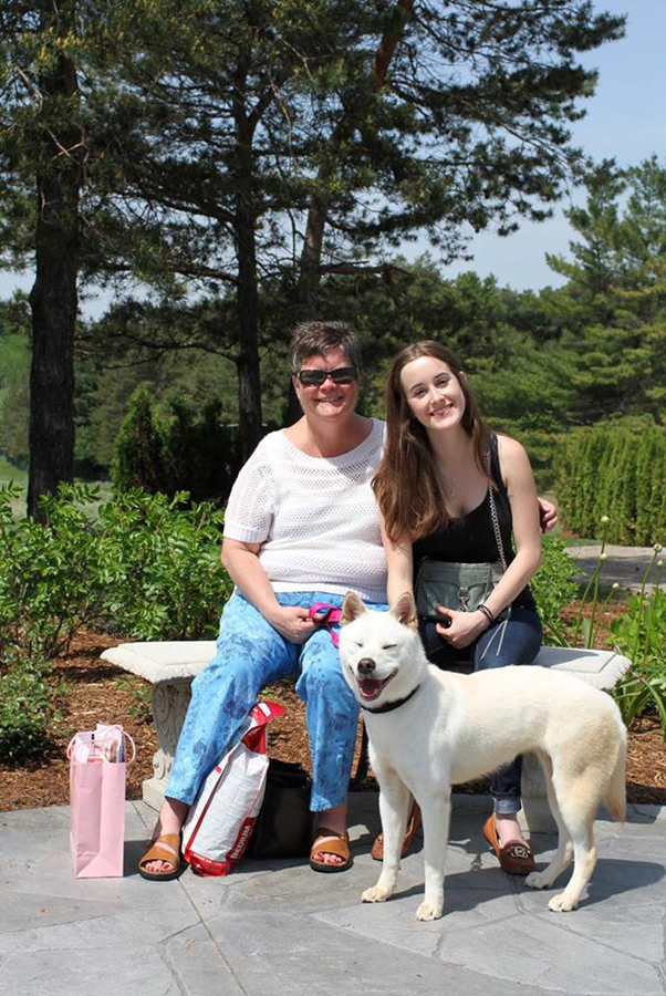 Elsa with her new family in Canada after her successful rehabilitation. (Lisa Crone)