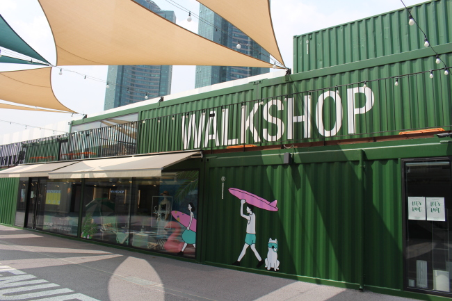 The Walkshop showcases products from local and small brands. (Kai Potter/ The Korea Herald)