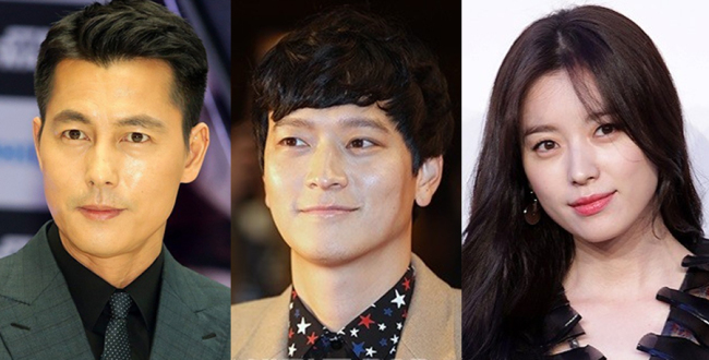 (From left) Jung Woo-sung, Gang Dong-won, Han Hyo-joo (Herald Pop)